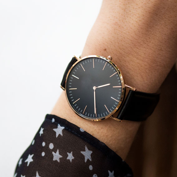 Woman's wrist with watch